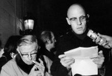 ميشيل فوكو برفقة سارتر أثناء انتفاضة 1968
